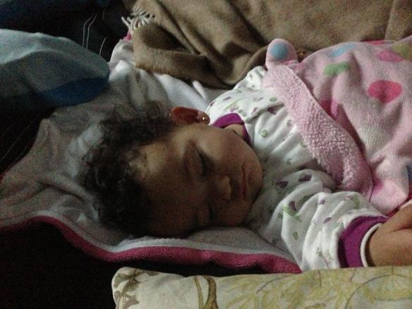 Valentina dormida