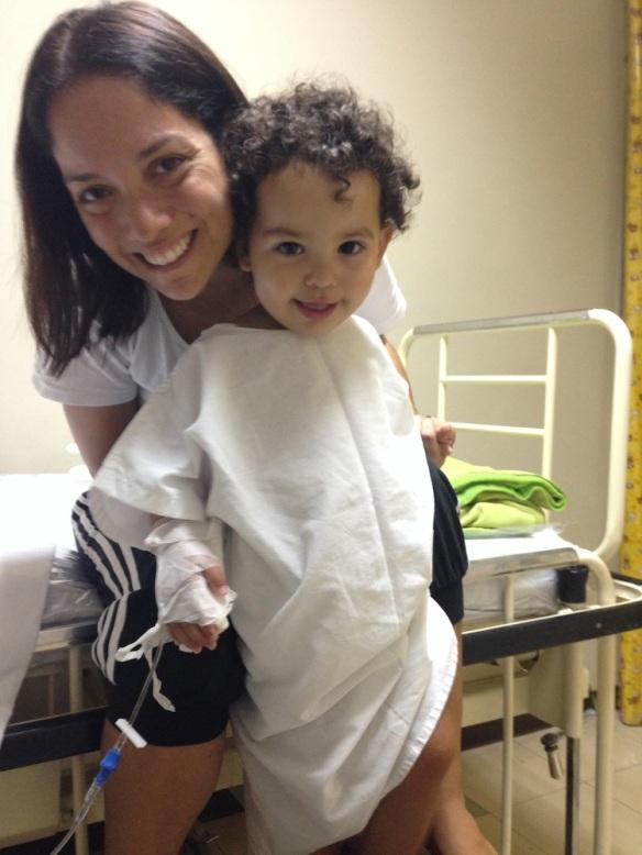 Valentina en la clínica