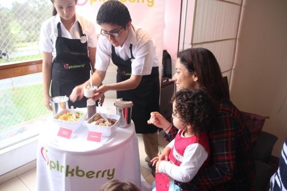 Pinkberry cumpleaños de Valentina