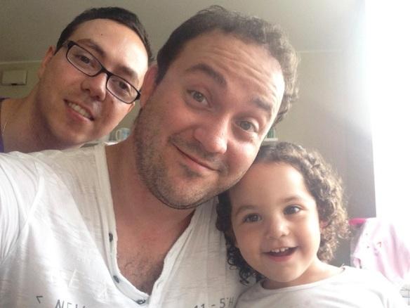 Valentina papá y padrino