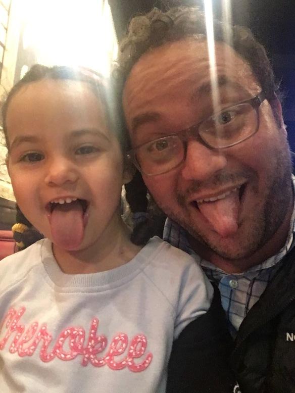 Valentina y papá